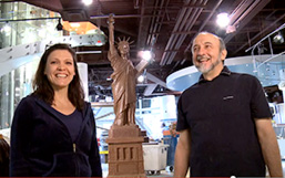 See the video of Jim and Marie making the Statue of Liberty out of Hershey's chocolate