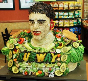 Marcos Mariota Food Sculpture for Subway, Honolulu, HI, April 2015